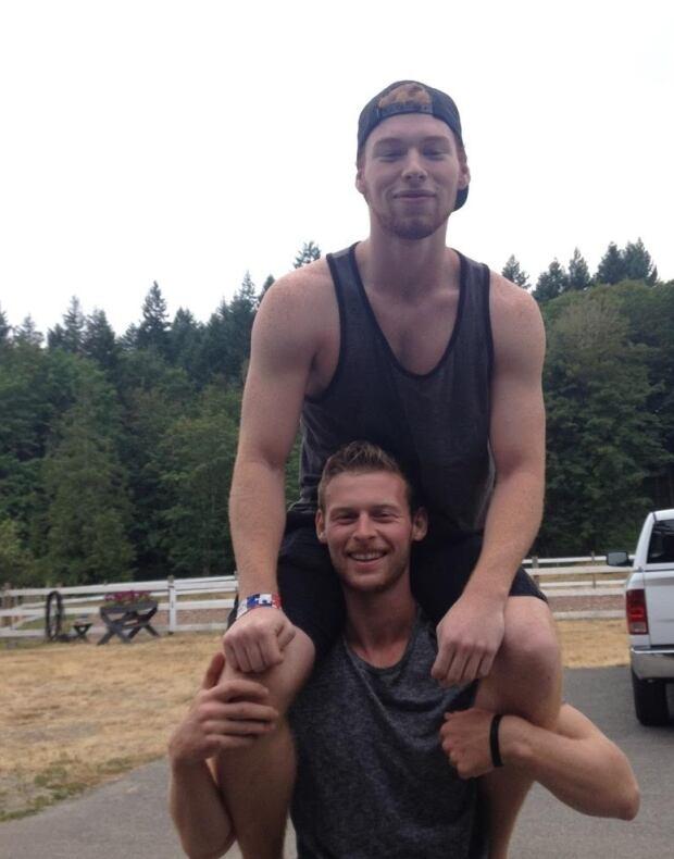 Jason on Ryan's shoulders
