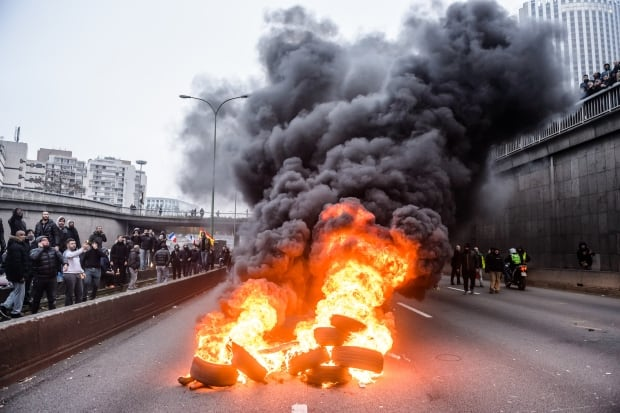 FRANCE TAXI UBER PROTEST
