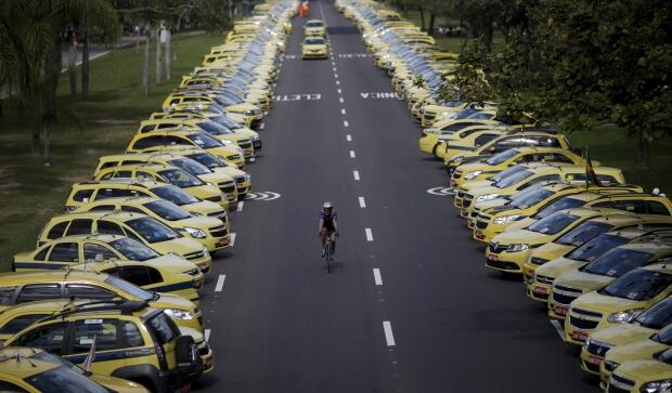 BRAZIL-anti UBER taxi protest July 25 2015