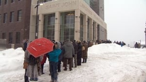 Dennis Oland sentencing, supporters