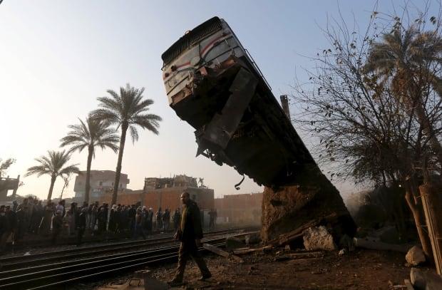 WIP EGYPT-TRAIN CRASH in Beni Suef Cairo Feb 11 2016