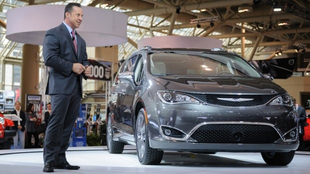 Reid Bigland unveils the 2017 Chrysler Pacifica at the Canadian International Auto Show in Toronto.