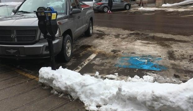 parking spot snow