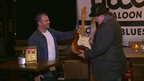 Bluesman reunited with long-lost Stratocaster guitar