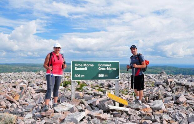 Gros Morne Mountain summit Genevieve and Tony Leitao