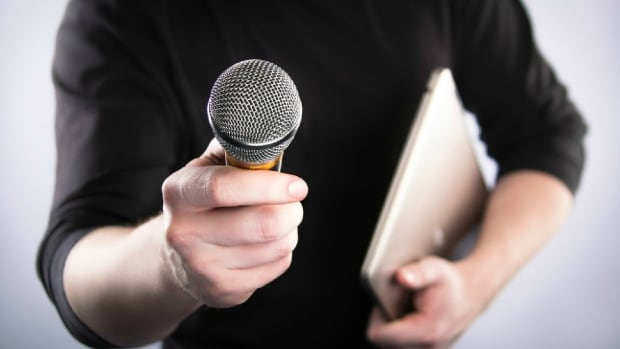 Person with microphone