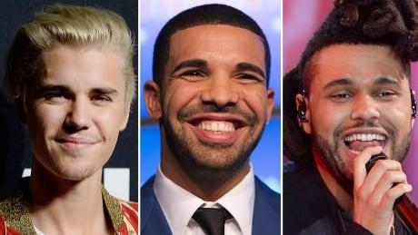 Bieber Drake and Weeknd