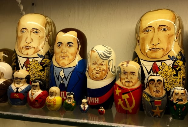 Stacking dolls of Russia's leaders