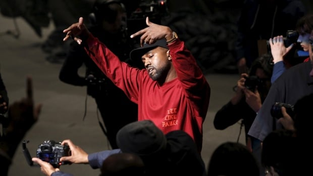 Kanye West dances during his Yeezy Season 3 Collection presentation and listening party for the The Life of Pablo album during New York Fashion Week Thursday.