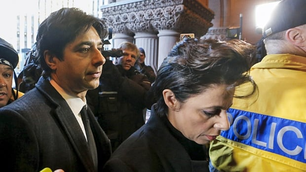 Jian Ghomeshi is shown here arriving for his first day of court alongside his lawyer Marie Henein. The judge's ruling is to come March 24.