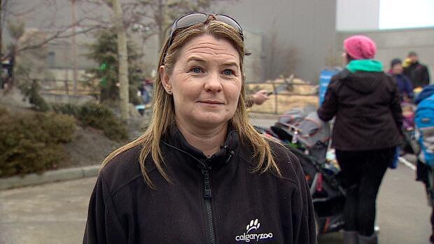 Calgary Zoo curator Colleen Baird