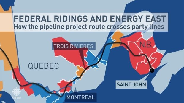 Federal Ridings and Energy East
