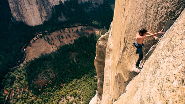 Kevin Jorgeson climbs the Dawn Wall, a 900-metre high face of El Capitan in Yosemite National Park, California