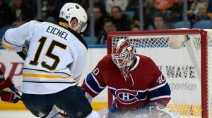 Canadiens' winning streak snapped by Sabres