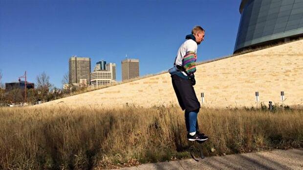 Markus Pukonen is attempting a rather strange motorless journey around the globe.