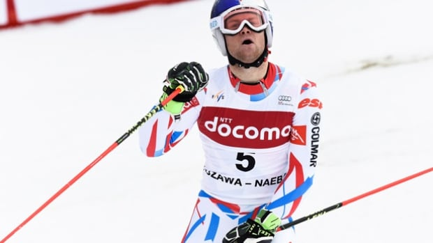 Alexis Pinturault of France won his first World Cup giant slalom race of the year in Yuzawa, Japan to move into second place in the standings.