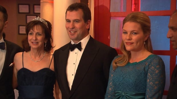 West Island Palliative Care Residence Executive Director Teresa Dellar, Peter Phillips and his wife Autumn Phillips (left to right).