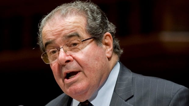 In this March 8, 2012 file photo, U.S. Supreme Court Justice Antonin Scalia speaks at Wesleyan University in Middletown, Conn.