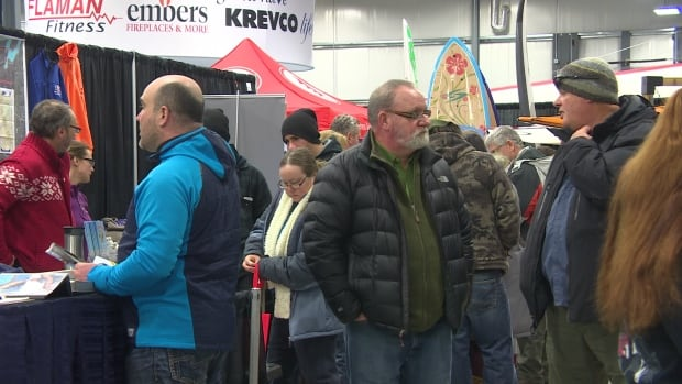 Hundreds of people descended on Red River Exhibition Place Saturday for the Manitoba Man Show and Manitoba Outdoors Show.