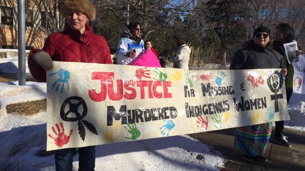 Hundreds of people gathered in Saskatoon to honour missing and murdered indigenous women.