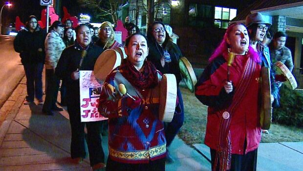 Hundreds marched in Calgary to honour MMIW and call for action Sunday evening.