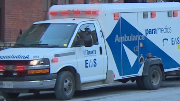 Paramedics were called to King Street West near John Street on Monday and transported a woman to hospital with minor injuries.
