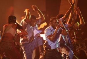 58th Grammy Awards Kendrick Lamar performs