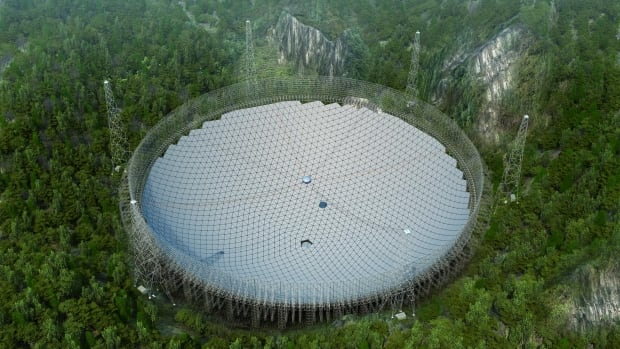 The Five-hundred-metre Aperture Spherical Telescope, or FAST, is the size of 20 Canadian football fields and has been hewed out of a mountain in the poor southwestern province of Guizhou.
