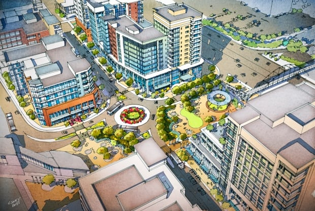 Proposed View of Anderson LRT Station Transit Oriented Development