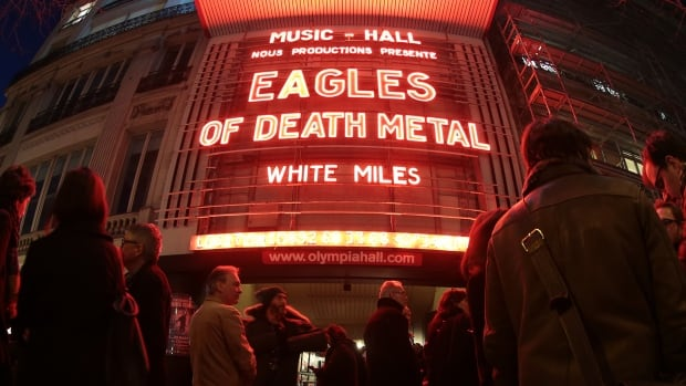 The Eagles of Death Metal returned to Paris on Tuesday after last playing in the city in November when it was under attack by extremists.