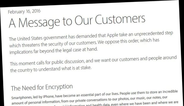 Apple CEO Tim Cook's message to customers