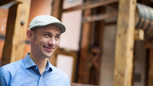 Shopify CEO Tobias Lutke is shown in Waterloo, Ont. last October. The company has improved its revenue by 95 per cent in the past year.