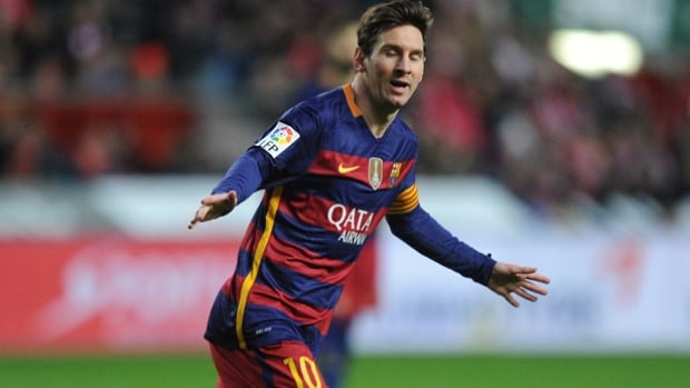 Scoring goals is so easy Lionel Messi can do it with his eyes closed. The Barcelona striker tallied goals Nos. 300, 301 Wednesday vs. Sporting Gijon to extend his all-time Spanish league scoring record.