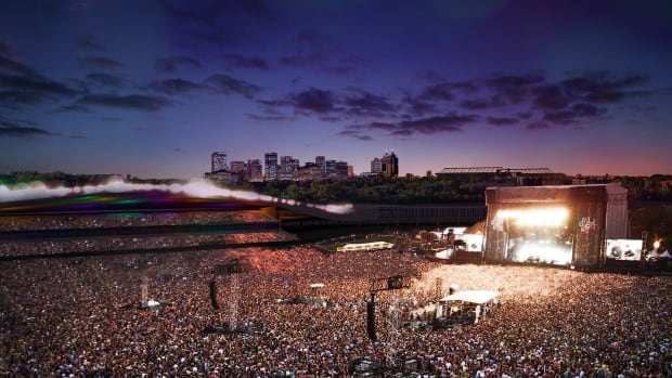 The outdoor festival space would be able to accommodate crowds of 30,000 to 140,000 people.