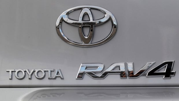 A Toyota RAV4 is displayed in a 2010 file photo. The recall announced Wednesday includes 1.3 million vehicles in North America, including nearly 149,000 sold in Canada.