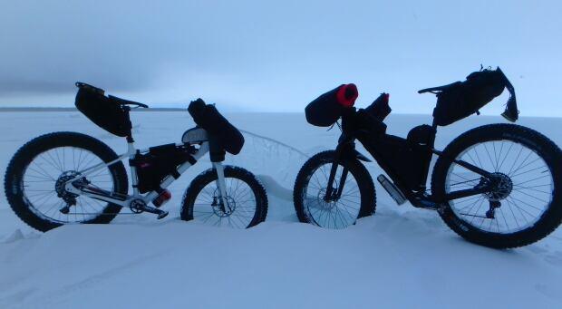 Lake Winnipeg, South Pole fat bike training session