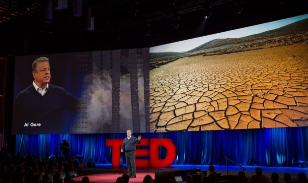 Al Gore with drought images