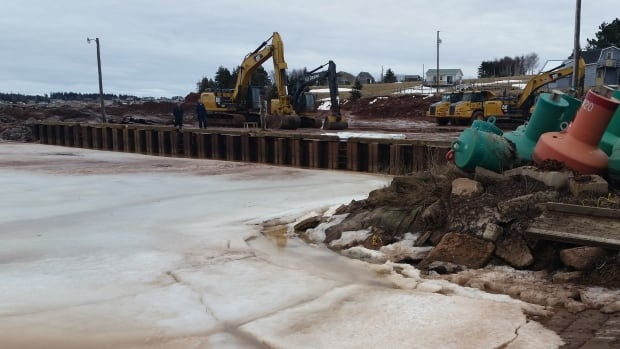 Construction on the Stanley Bridge marina expansion is expected to wrap up in the next couple of weeks.