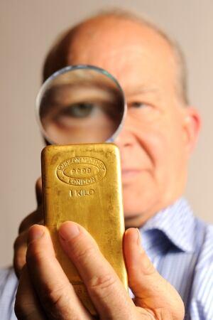 GOLD bar brick bullion
