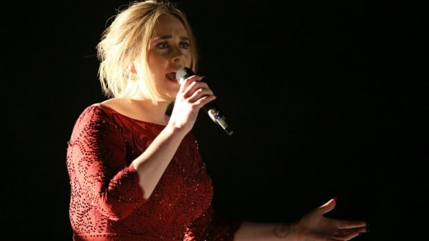 Adele's performance at the 58th annual Grammy Awards in Los Angeles Monday was marred by a 'technical glitch,' namely a microphone that fell inside the piano  accompanying her. The result was that the hitmaker sounded very mortal: TV audiences heard a pitchy song and saw an unsettled Adele.