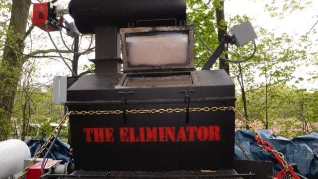 Experts spent days examining an incinerator called the Eliminator that was found on an Ayr, Ont., farm once owned by one of the accused in the death of Tim Bosma of Hamilton.