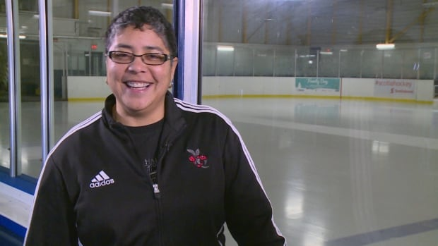 Angela James spoke to CBC News at an arena named after her in the Toronto neighbourhood of Flemingdon Park.