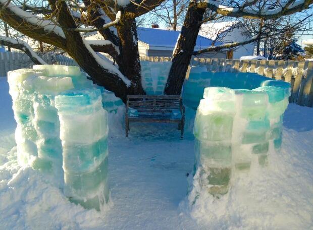 Ice castle progress