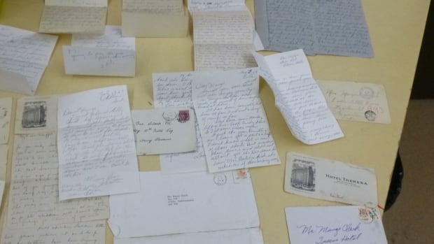 Some of the letters are addressed to towns and cities in Saskatchewan and Ontario.
