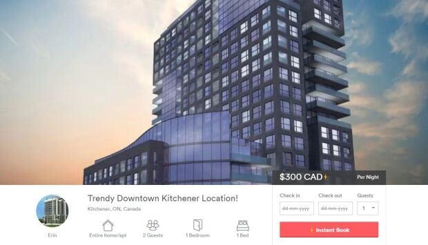 Airbnb Kitchener rental