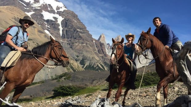 The Shuswap's Jacob Brett, left and Veda Roberge, middle, spent two weeks in Torres Del Paine National Park in Chile helping assess the future of one of the most popular trails in the world.