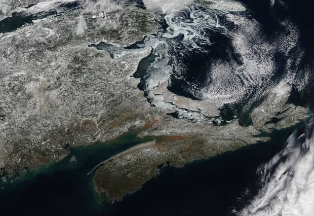 Satellite image of the Maritimes on Feb. 19, 2016