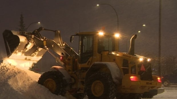Police believe a tractor was hit by a pellet gun in Dartmouth while plowing snow and salting sidewalks.