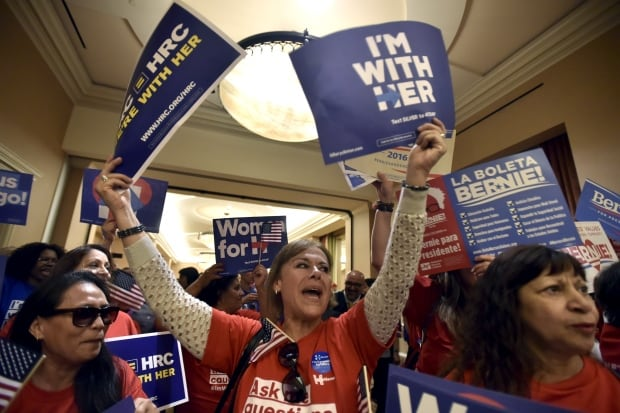 USA ELECTION DEMOCRATIC SUPPORTERS