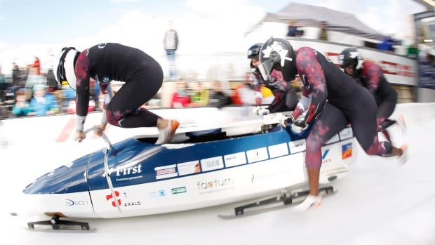 """""""Every athlete wants to have a legacy and this is something I believe strongly in,"""" said Canadian Kaillie Humphries, who piloted Canada in the inaugural four-woman bobsleigh event."""